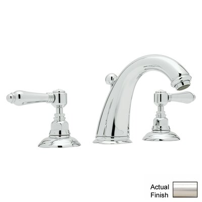 San Julio Double Handle Widespread Bathroom Faucet with Lever Handle and Pop-Up Drain Finish: Satin Nickel