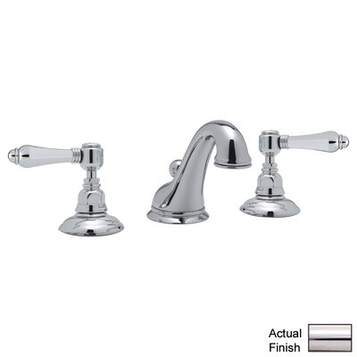 Rohl A1408LM-2 Country Bath Low Lead Widespread Bathroom Faucet with Pop-Up Drain and Metal Lever Handles Finish: Polished Nickel
