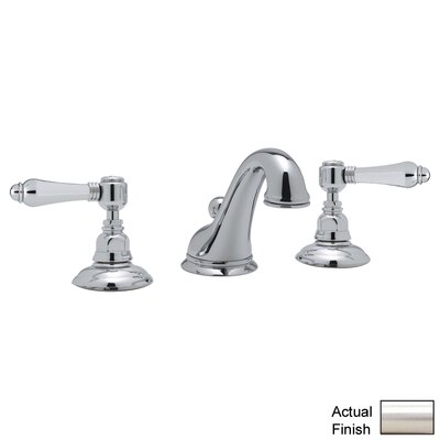 Rohl A1408LM-2 Country Bath Low Lead Widespread Bathroom Faucet with Pop-Up Drain and Metal Lever Handles Finish: Satin Nickel