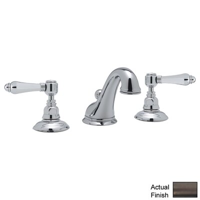 Rohl A1408LM-2 Country Bath Low Lead Widespread Bathroom Faucet with Pop-Up Drain and Metal Lever Handles Finish: Tuscan Brass