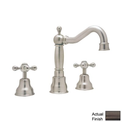 Cisal Double Handle Widespread Bathroom Faucet with Pop-Up Drain and Cross Handle