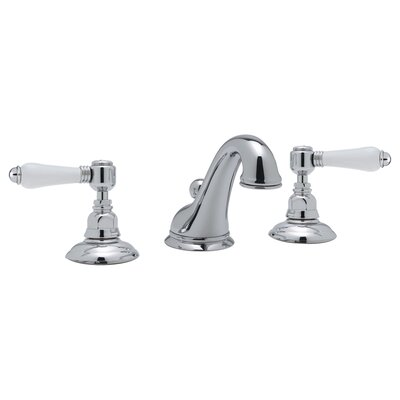 Country Double Handle Widespread Bathroom Faucet with Pop-Up Drain and Lever Handle Finish: Polished Chrome
