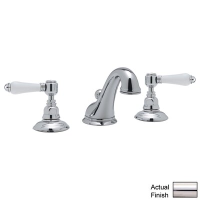 Rohl A1408LP-2 Country Bath Low Lead Widespread Bathroom Faucet with Pop-Up Drain and Porcelain Cross Handles Finish: Polished Nickel