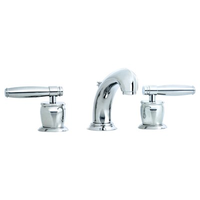 Zephyr Double Handle Widespread Bathroom Faucet with Pop-Up Waste and Lever Handle Finish: Polished Chrome
