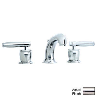 Zephyr Double Handle Widespread Bathroom Faucet with Pop-Up Waste and Lever Handle Finish: Polished Nickel