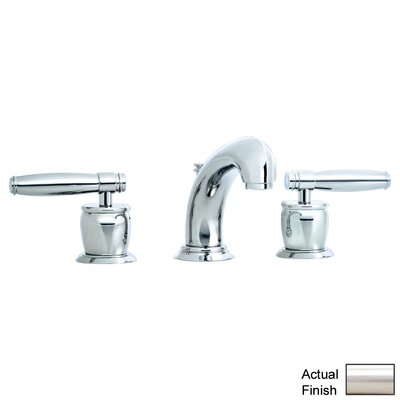 Zephyr Double Handle Widespread Bathroom Faucet with Pop-Up Waste and Lever Handle Finish: Satin Nickel