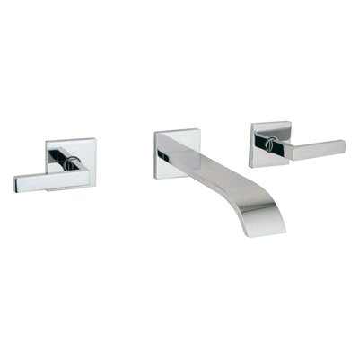Wave Double Handle Wall Mounted Bathroom Faucet with Lever Handle Finish: Polished Chrome