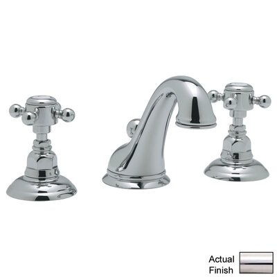 Rohl A1408XM-2 Country Bath Low Lead Widespread Bathroom Faucet with Pop-Up Drain and Metal Cross Handles Finish: Polished Nickel