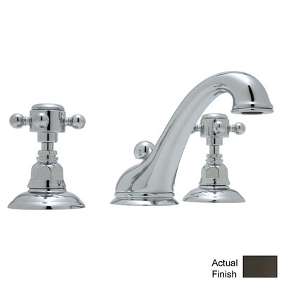 Country Double Handle Widespread Bathroom Faucet with Pop-Up Drain and Cross Handle Finish: Old Iron