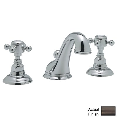 Rohl A1408XM-2 Country Bath Low Lead Widespread Bathroom Faucet with Pop-Up Drain and Metal Cross Handles Finish: Satin Nickel