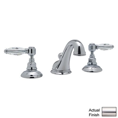 Country Double Handle Widespread Bathroom Faucet with Pop-Up Drain and Lever Handle Finish: Polished Nickel