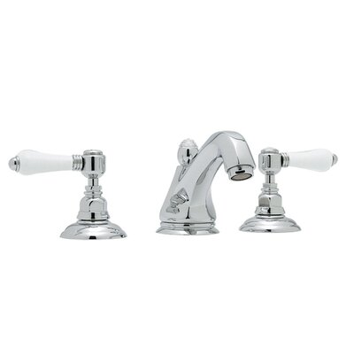 Country Widespread Double Handle Bathroom Faucet with Drain Assembly