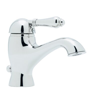 Country Single Handle Bathroom Faucet with Lever Handle and Pop-Up Drain Finish: Polished Nickel