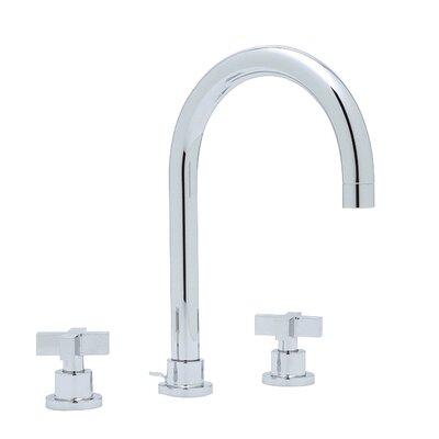Modern Double Handle Widespread Bathroom Faucet with Cross Handle