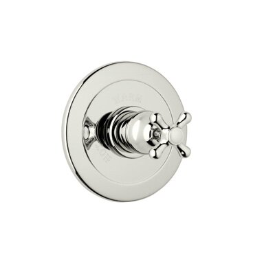 Verona Pressure Balance Trim Without Diverter-criss cross handles