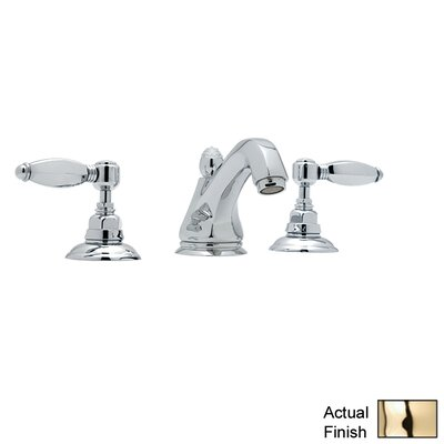 Rohl A1808LH-2 Country Bath Low Lead Widespread Bathroom Faucet with Hex Metal Lever Handles and Pop-Up Drain Finish: Inca Brass