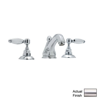 Rohl A1808LH-2 Country Bath Low Lead Widespread Bathroom Faucet with Hex Metal Lever Handles and Pop-Up Drain Finish: Polished Nickel