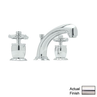 Zephyr Double Handle Widespread Bathroom Faucet with Pop-Up Waste and Cross Handle Finish: Polished Nickel