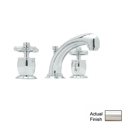 Zephyr Double Handle Widespread Bathroom Faucet with Pop-Up Waste and Cross Handle Finish: Satin Nickel
