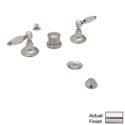 Country Double Handle Vertical Spray Bidet Faucet Finish: Polished Nickel