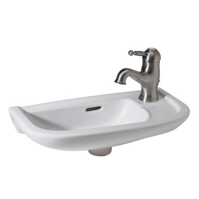 Linea Hand Rinse Ceramic 20 Wall Mount Bathroom Sink with Overflow
