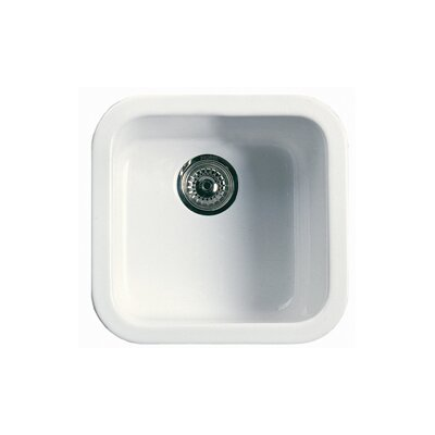 Single Bowl Bar/Kitchen Prep Sink Finish: White