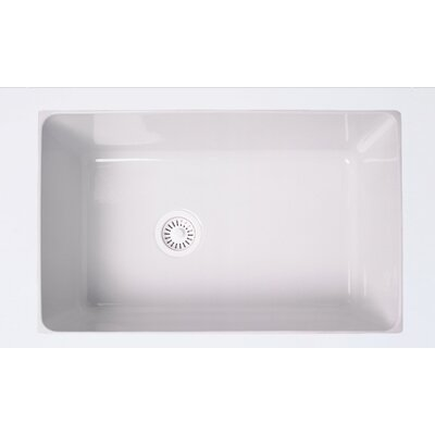 Single Bowl Undermount Kitchen Sink Finish: White