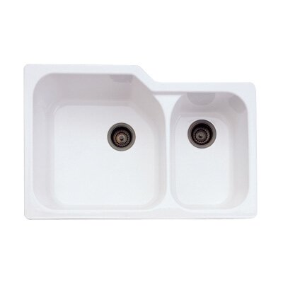 Undermount Kitchen Sink with Large Bowl Finish: Pergame Biscuit