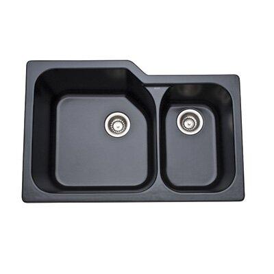 Undermount Kitchen Sink with Large Bowl in Matte Black