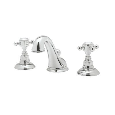 Rohl A1408LP-2 Country Bath Low Lead Widespread Bathroom Faucet with Pop-Up Drain and Porcelain Cross Handles Finish: Polished Chrome