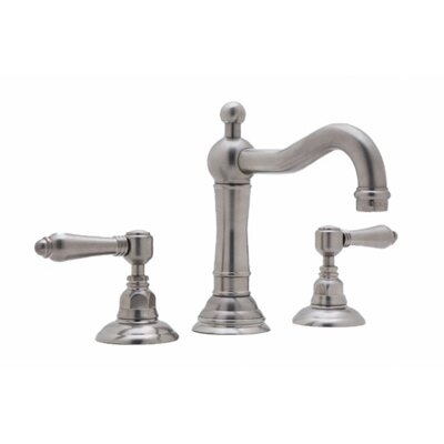 Rohl A1409LC-2 Country Bath Low Lead Widespread with Swarovski Crystal Lever Handles and Pop-Up Drain Finish: Inca Brass