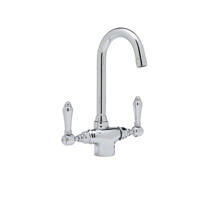 Country Kitchen Two Handle Single Hole Bar Mixer Faucet Finish: Satin Nickel