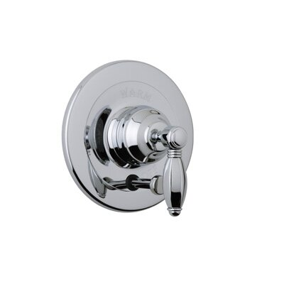 Pressure Balance Diverter Faucet Shower Faucet Trim Only with Metal Lever Handle Finish: Polished Nickel