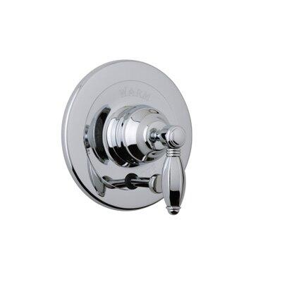 Pessure Balance Diverter Shower Faucet Trim Only with Porcelain Lever Handle