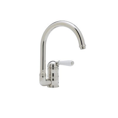 Country Kitchen One Handler Single Hole Kitchen Faucet with Metal Lever Side Spray