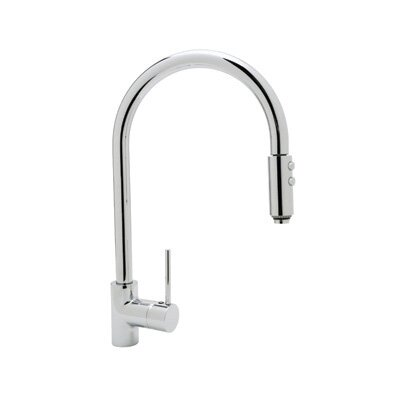 Bossini Pull Down Single Handle Kitchen Faucet Finish: Polished Chrome