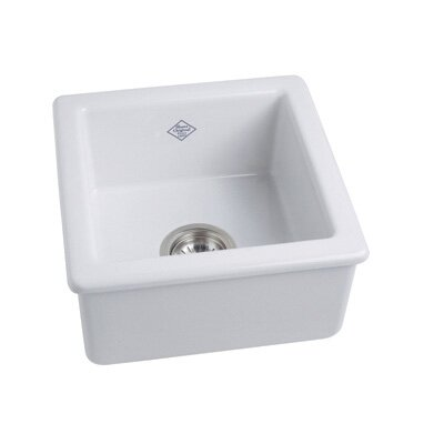 Single Bowl Undermount or Drop in Fireclay Kitchen or Prep Sink Finish: White