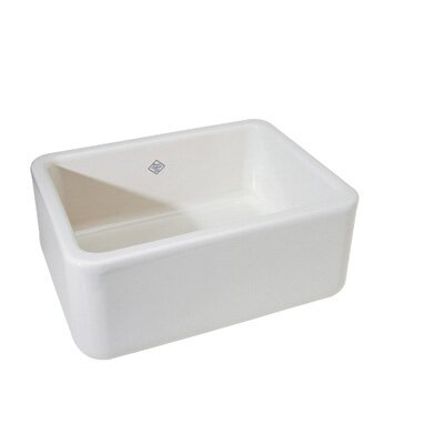Lancaster Fireclay Apron Sink Finish: White