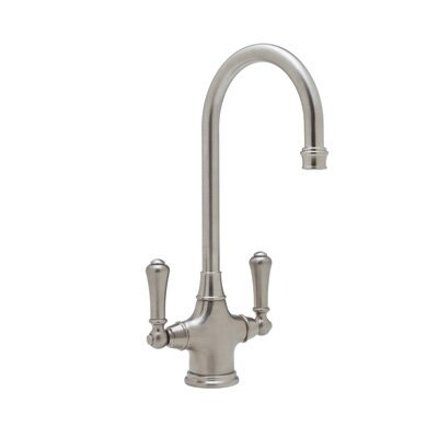 Perrin And Rowe Single Hole Bar Faucet with Double Lever Handles