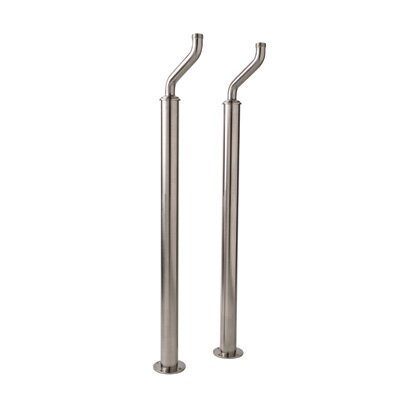 Pair Of Floor Supply Unions For Exposed Tub Filler Finish: Polished Nickel