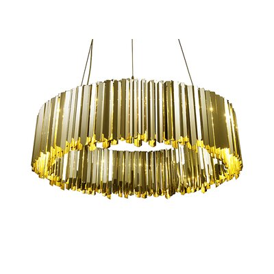 Facet Light Crystal Chandelier Size: 11.8 H x 23.6 W x 23.6 D, Finish: Polished Brass