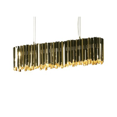 Facet 6-Light Kitchen Island Pendant Finish: Polished Brass