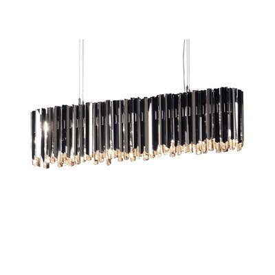 Facet 6-Light Kitchen Island Pendant Finish: Polished Stainless Steel