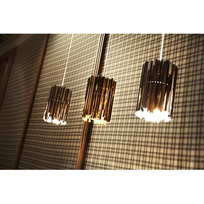 Facet 1-Light Mini Pendant Finish: Polished Brass