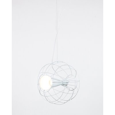 Latitude 1-Light Globe Pendant Color: White