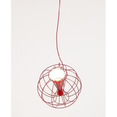 Latitude 1-Light Globe Pendant Color: Red
