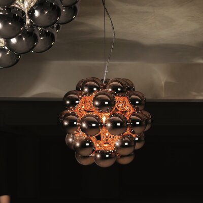 Beads Penta 1-Light Globe Pendant Finish: Copper