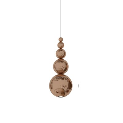 Bubble 1-Light Mini Pendant Color: Copper