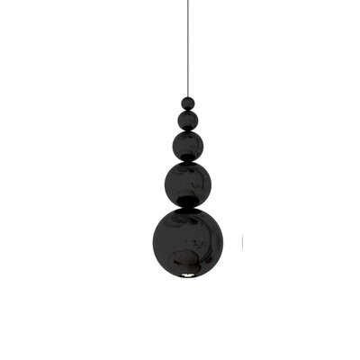 Bubble 1-Light Mini Pendant Color: Black