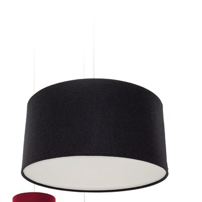 Kobe Polyester Drum Pendant Shade Size: 11.8 H x 23.6 W x 23.6 D, Color: Black